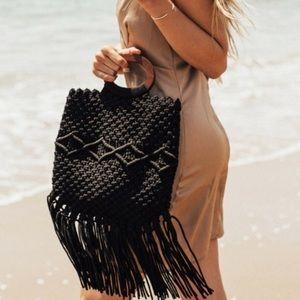Danielle Nicole's Black Macrame Handbag